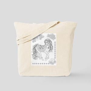 Prancing Daisy & Paisley Horse Tote Bag