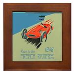 FRENCH RIVIERA-RACE CAR-1948 Framed Tile