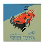 FRENCH RIVIERA-RACE CAR-1948 Tile Coaster