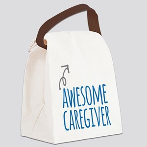 Awesome caregiver Canvas Lunch Bag