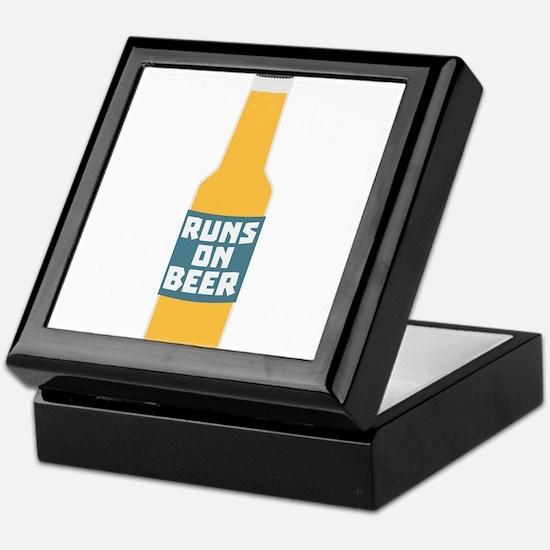Runs on Beer Bottle Ccy3l Keepsake Box