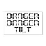 Danger Danger Tilt Pinball 20x12 Wall Decal