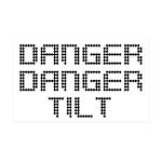 Danger Danger Tilt Pinball 35x21 Wall Decal