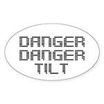 Danger Danger Tilt Pinball Sticker (Oval)