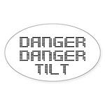 Danger Danger Tilt Pinball Sticker (Oval 10 pk)