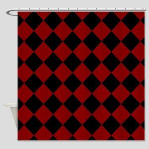 Diamond Checker Board Shower Curtain