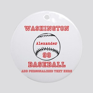 Baseball Personalized Round Ornament