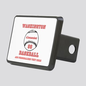 Baseball Personalized Rectangular Hitch Cover