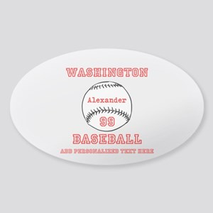 Baseball Personalized Sticker