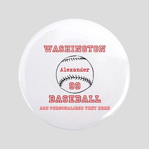 Baseball Personalized Button
