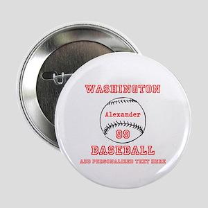 """Baseball Personalized 2.25"""" Button"""