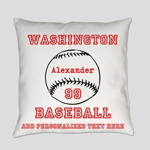 Baseball Personalized Everyday Pillow