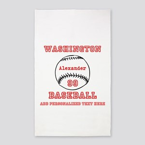 Baseball Personalized Area Rug