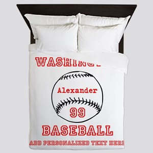 Baseball Personalized Queen Duvet