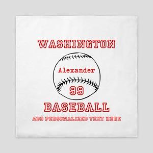 Baseball Personalized Queen Duvet
