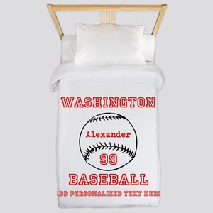 Baseball Personalized Twin Duvet
