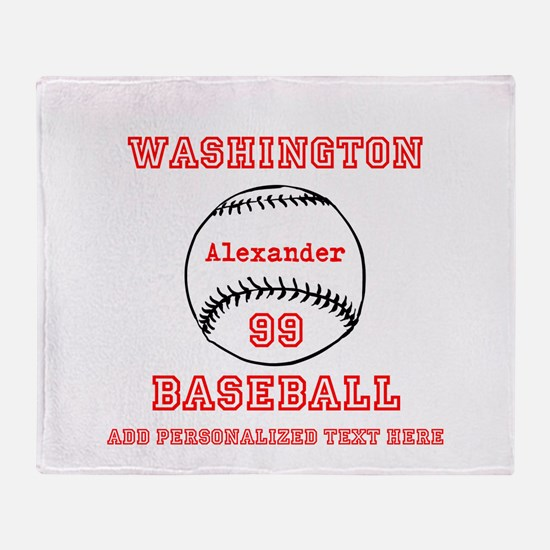Baseball Personalized Throw Blanket