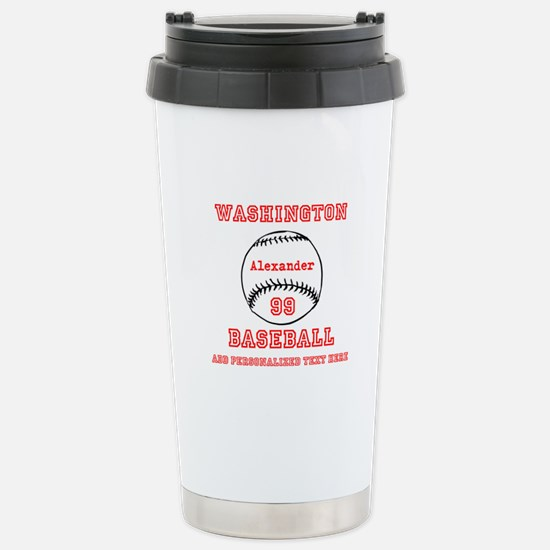 Baseball Personalized Travel Mug