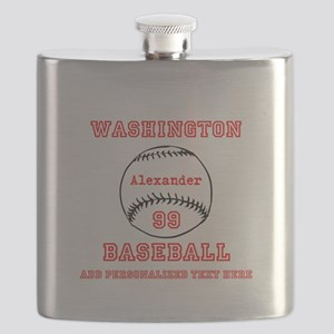 Baseball Personalized Flask