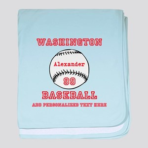 Baseball Personalized baby blanket