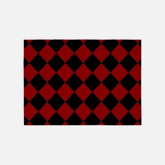 Diamond Checker Board 5'x7'Area Rug