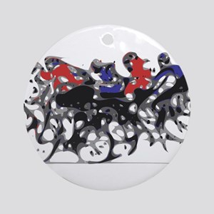 Bikers Round Ornament