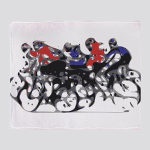 Bikers Throw Blanket