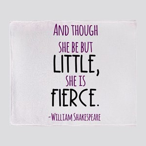 Shakespeare Fierce Quote Throw Blanket