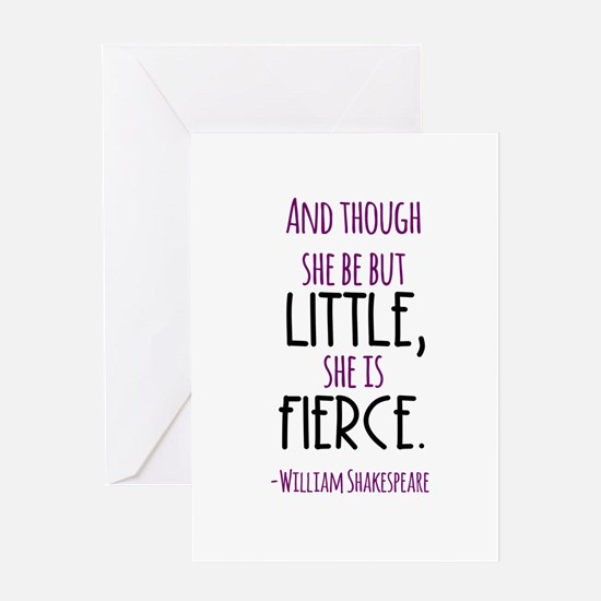 Shakespeare Fierce Quote Greeting Cards