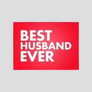 Best Husband Ever 5'x7'Area Rug