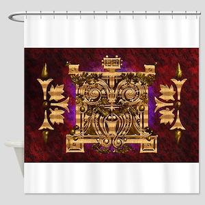Harvest Moons Arts & Crafts Panel Shower Curtain