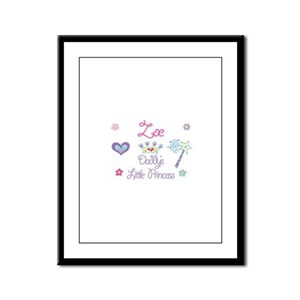 Zoe - Daddy's Little Princess Framed Panel Print