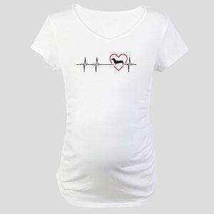 i love Dachshund Maternity T-Shirt