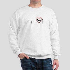 i love Dachshund Sweatshirt