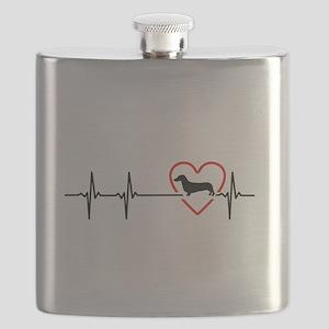 i love Dachshund Flask
