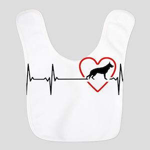 i love German Shepherd Dog Polyester Baby Bib