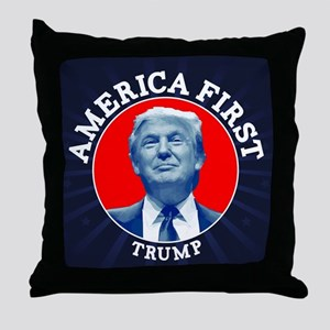 Trump America First Calendar Throw Pillow