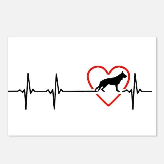 i love German Shepherd Do Postcards (Package of 8)