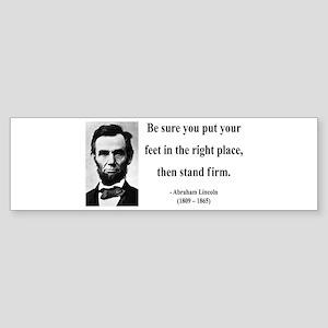 Abraham Lincoln 24 Bumper Sticker