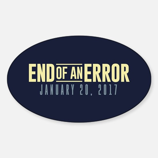 End of an Error Sticker (Oval)
