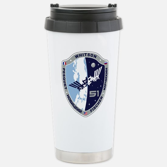 Exp 51 Actual Crew Stainless Steel Travel Mug