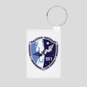 Exp 51 Actual Crew Aluminum Photo Keychains