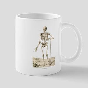 Skeleton Leaning on Spade Mugs