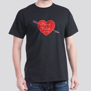 Heart Names Personalized Dark T-Shirt