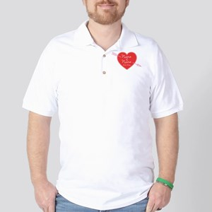 Heart Names Personalized Golf Shirt