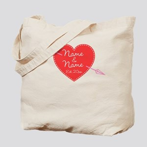 Heart Names Personalized Tote Bag
