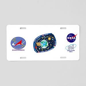 Exp 52, Actual Crew Aluminum License Plate