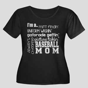 BASEBALL MOM - WHITE Plus Size T-Shirt