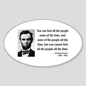 Abraham Lincoln 25 Oval Sticker