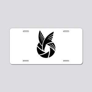 over view Aluminum License Plate